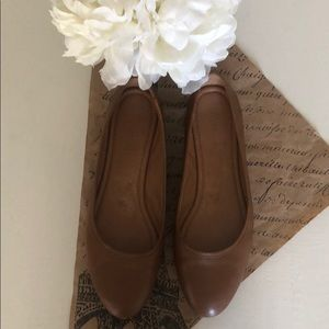 Madewell The Reid Ballet Flat in Leather